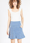very me volanterie skirt , snowwhite dots, Jerseyröcke, Blau