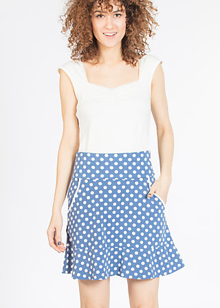 very me volanterie skirt , snowwhite dots, Skirts, Blau