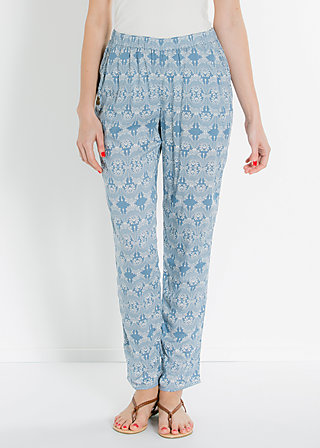 adams rib pants, romantically mood, Hosen, Blau