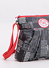 huge heart bag, crazy stripes, Accessoires, Schwarz