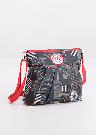 huge heart bag, crazy stripes, Handtaschen, Schwarz