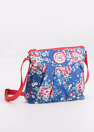 huge heart bag, flower over me, Handtaschen, Blau
