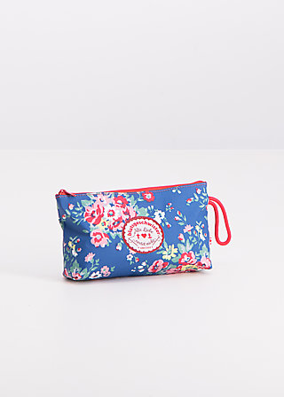 sweethearts washbag, flower over me, Washbags, Blau