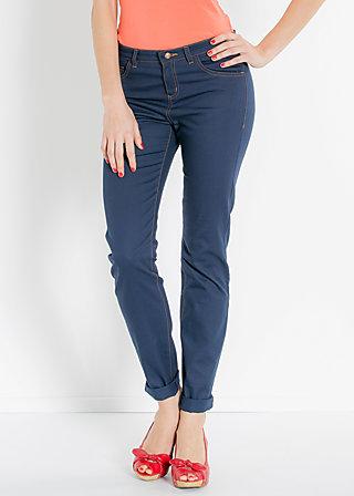 berliner göhre röhre, deep blue, Trousers, Blau