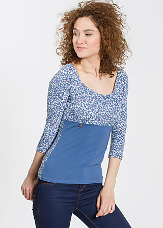 carmencita mon amour shirt, forest of birds, Shirts, Blau