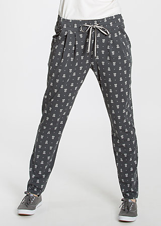 central park picknick pants, early blooming, Trousers, Schwarz