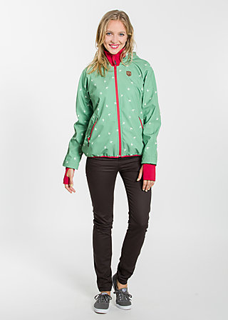cosy rainstorm survival zip, go outside, Softshell, Grün