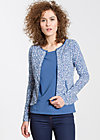 cotton eye josephine zip, forest of birds, Zipperjacken, Blau