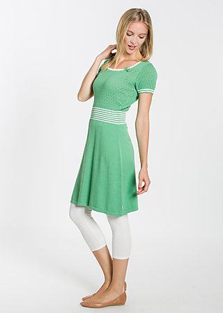 Cotton heart Robe, green blossom, Kleider, Grün