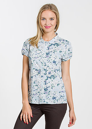 Countryclub eden blusette, bloomy blossoms, Blouses, Blau