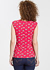 decolleté darling top, carries cherries, Unterwäsche, Rot