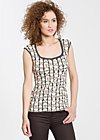 decolleté darling top, french flowerpot, Tops, Schwarz