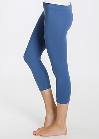 logo 3/4 leggins, blue flower, Leggings, Blau