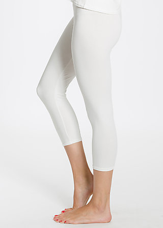 logo 3/4 leggins, fresh white, Leggings, Weiß