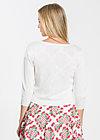 logo knit 3/4 sleeve cardigan, delicate creme, Pullover & leichte Jacken, Weiß