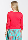 logo knit 3/4 sleeve cardigan, lady in red, Cardigans, Rot