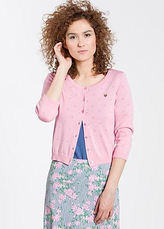 logo knit 3/4 sleeve cardigan, tender rose, Cardigans, Rosa