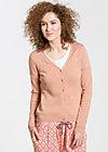 logo knit cardigan, elegant hazel, Cardigans, Braun