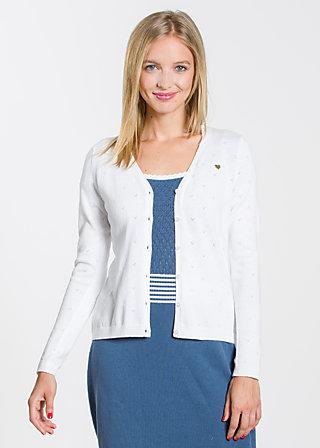 logo knit cardigan, clear white, Cardigans, Weiß