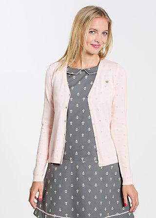 logo knit cardigan, lucid pink, Cardigans, Rosa