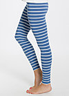 logo leggins, blue stripes, Leggings, Blau
