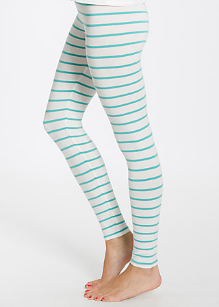 logo leggins, white stripes, Leggings, Weiß