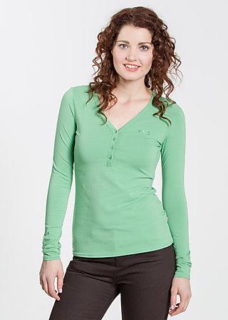 logo longsleeve v-shirt, leafy green, Shirts, Grün