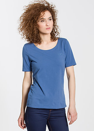 logo roundneck t-shirt, blue flower, Shirts, Blau