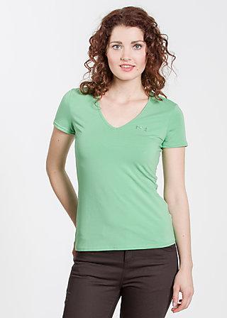 logo shortsleeve v-shirt, leafy green, Shirts, Grün