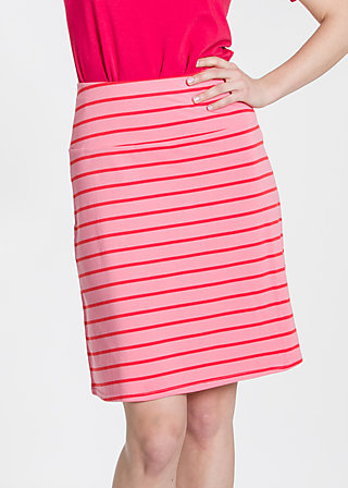 logo skirt, pink stripes, Röcke, Rosa