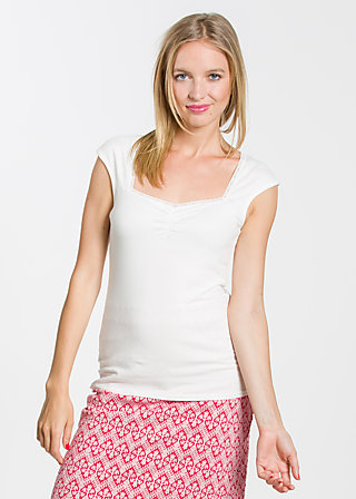 logo sleeveless top, fresh white, Shirts, Weiß
