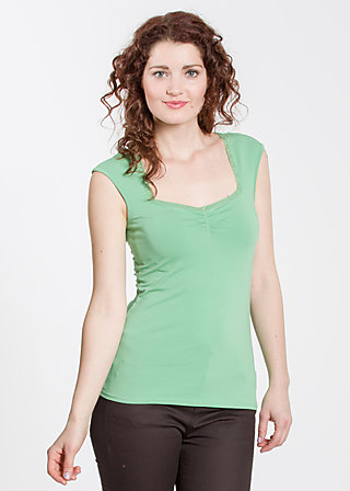 logo sleeveless top, leafy green, Shirts, Grün