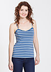 logo spaghetti top, blue stripes, Shirts, Blau