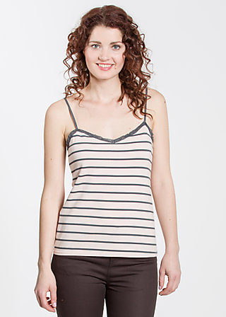 logo spaghetti top, rose stripes, Shirts, Rosa