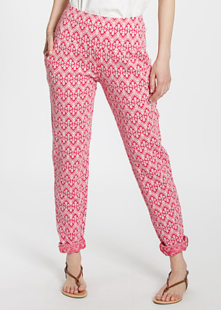 lovely lazyness pants, tulips lips, Hosen, Rot