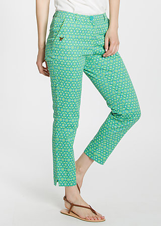 pantalon d'amour , flagstone flowers, Trousers, Türkis