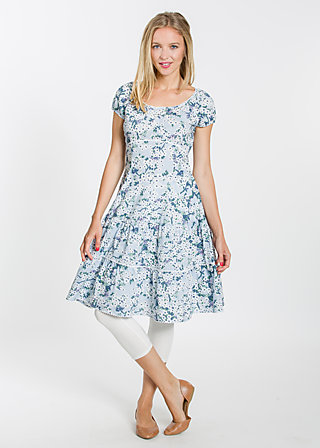 pluckily Mary robe , bloomy blossoms, Dresses, Blau