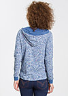 sailorberry hill hood, forest of birds, Pullover, Blau