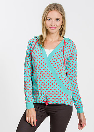 sailorberry hill hood, berry dots, Pullover & Hoodies, Türkis