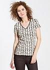 veranda feger shirt, french flowerpot, Kurzarm, Schwarz