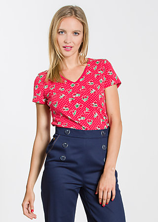 veranda feger shirt, carries cherries, Shirts, Rot
