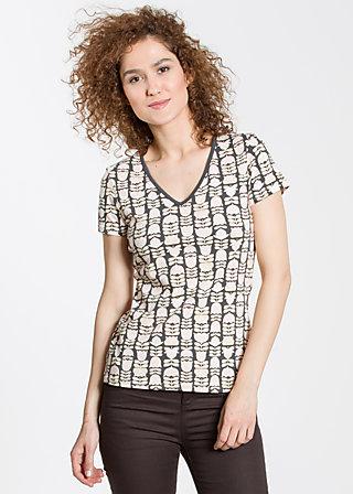 veranda feger shirt, french flowerpot, Shortsleeve, Schwarz