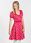 wings of spring dress, carries cherries, Kleider, Rot