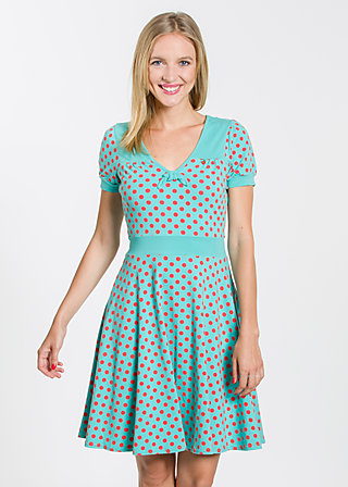 wings of spring dress, berry dots, Dresses, Türkis