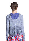 glamping geisha hooded, campers lace, Blau