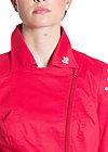 peplum biker jacket, rimimi red, Rot