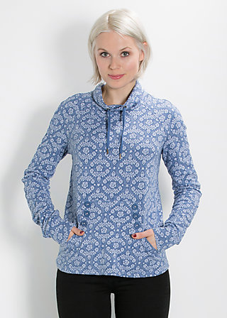 doppelkopf sweat, icy blossom, Pullover, Blau