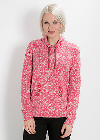 doppelkopf sweat, soft blossom, Pullovers, Rot