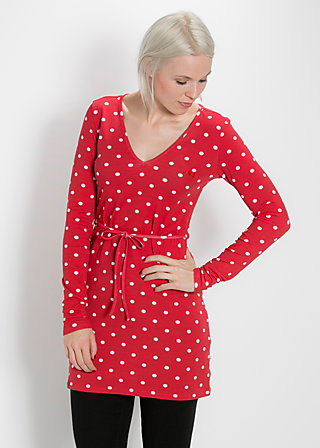 fine twine tunique, dancing dots, Kleid, Rot