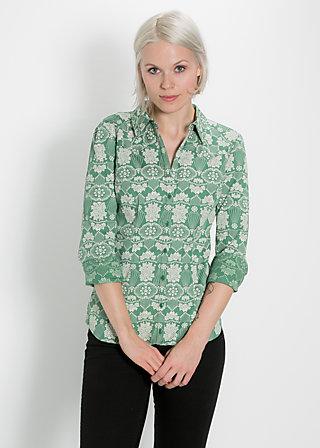 folksy fawn blusette, green granny, Blusen, Grün